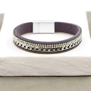 Silver & Black Crystal Bracelet