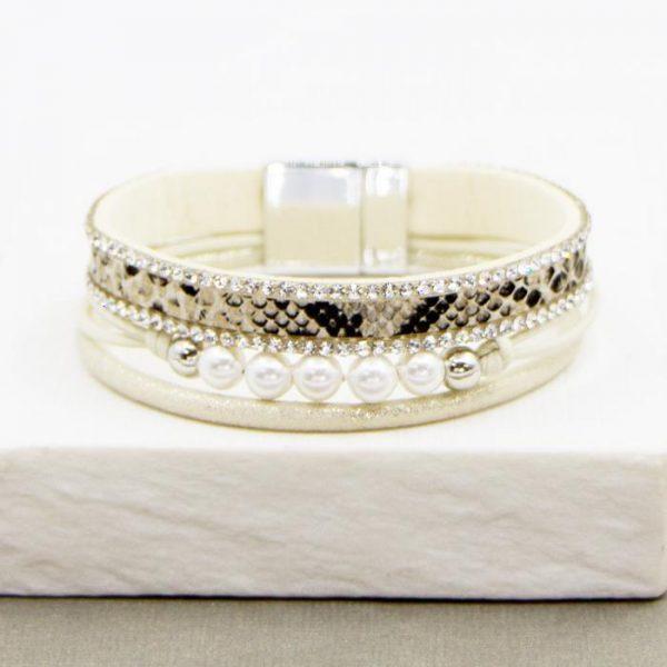 Multistrand Pearl & Crystal Bracelet