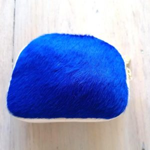 Blue Fur Purse