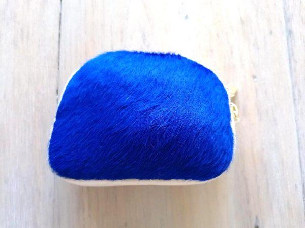 Blue Fur Purse