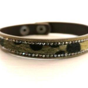 Zelly Green Leopard Print Bracelet