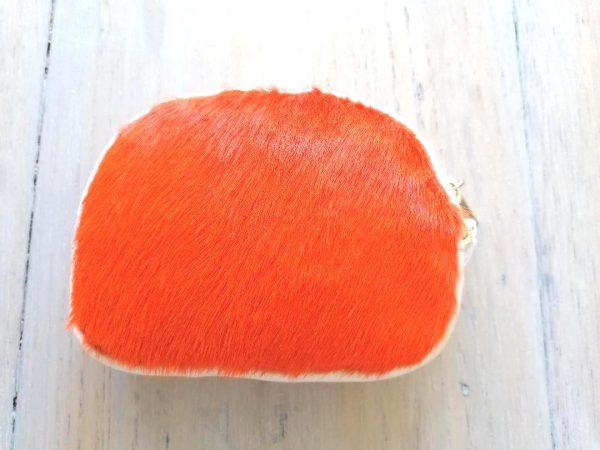 Orange Fur Purse