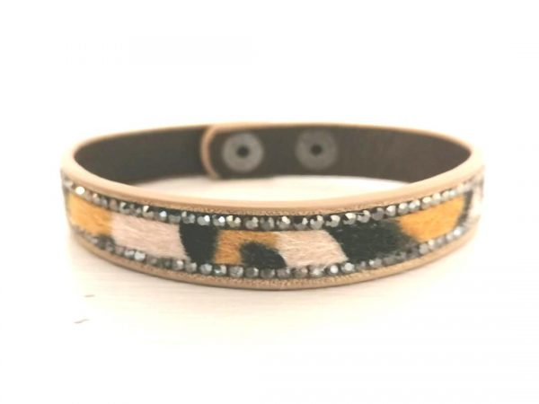 Zelly Orange Leopard Print Bracelet