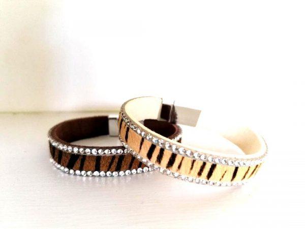 Dark Brown Fur Stripe Bracelet