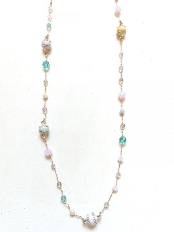 Lovett & Co Pastel Bead Necklace