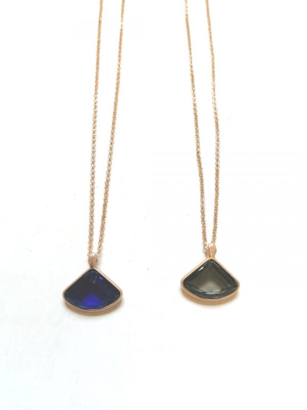 Lovett & Co Blue Triangle Necklace
