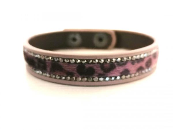 Zelly Purple Leopard Print Bracelet