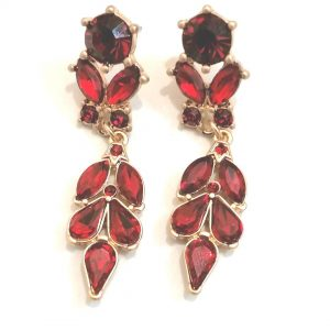 Lovett & Co Antique Red Earrings