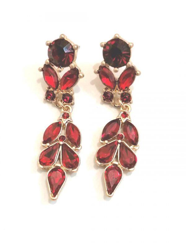Lovett & Co Antique Red Earrings