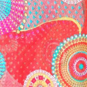 Red Circle Print Scarf