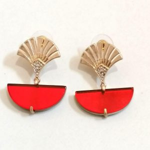 Lovett & Co Deco Fan Earrings