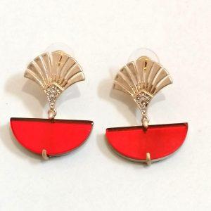 Lovett & Co Deco Fan Earrings