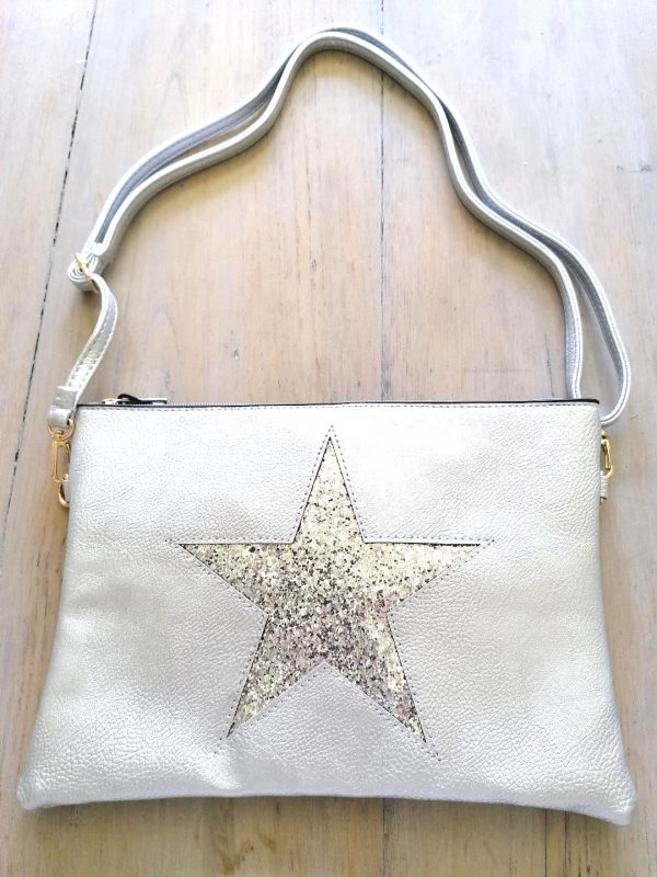 Silver Star Clutch Bag