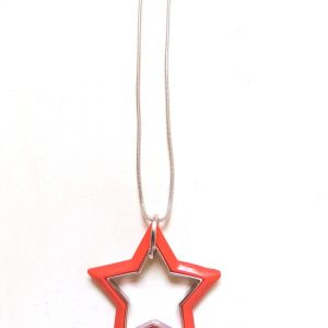 Orange Star Necklace