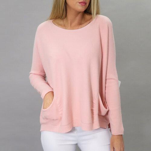 Baby Pink Pocket Sweater