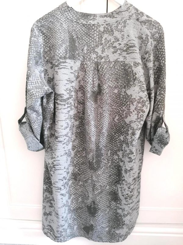 Dark Grey Leopard Print Tunic