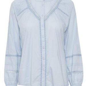 Cream Pale Blue Blouse
