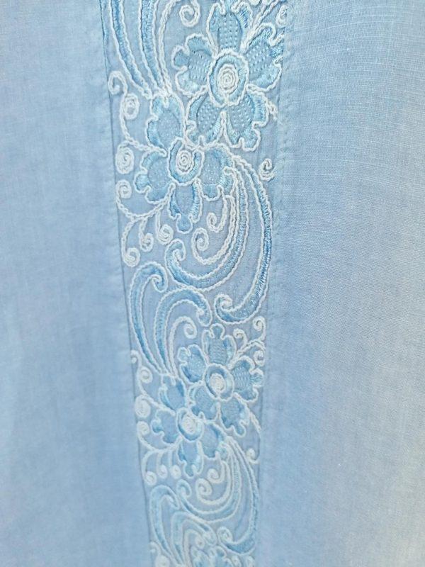 Deep Blue Linen Dress