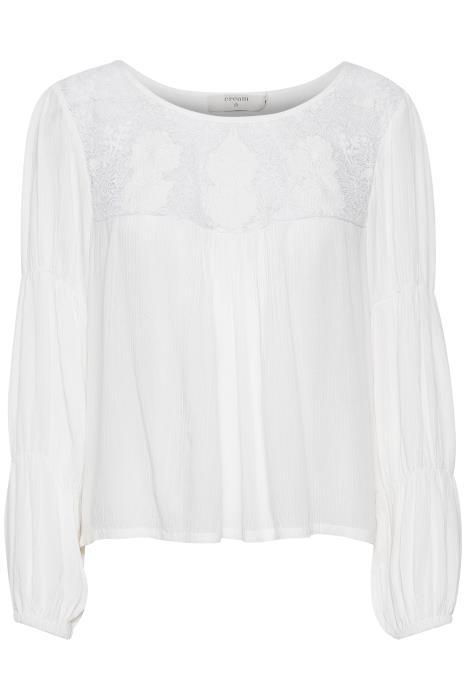 Cream White Lace Blouse
