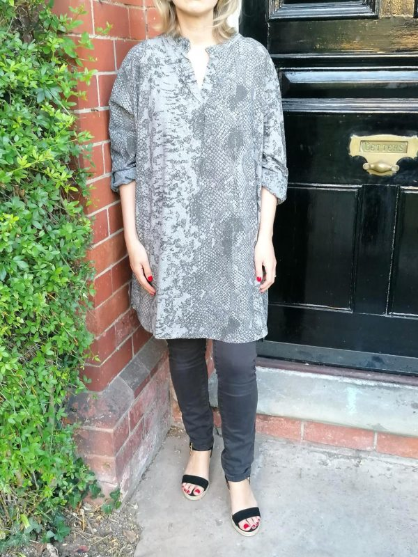 grey gold tunic