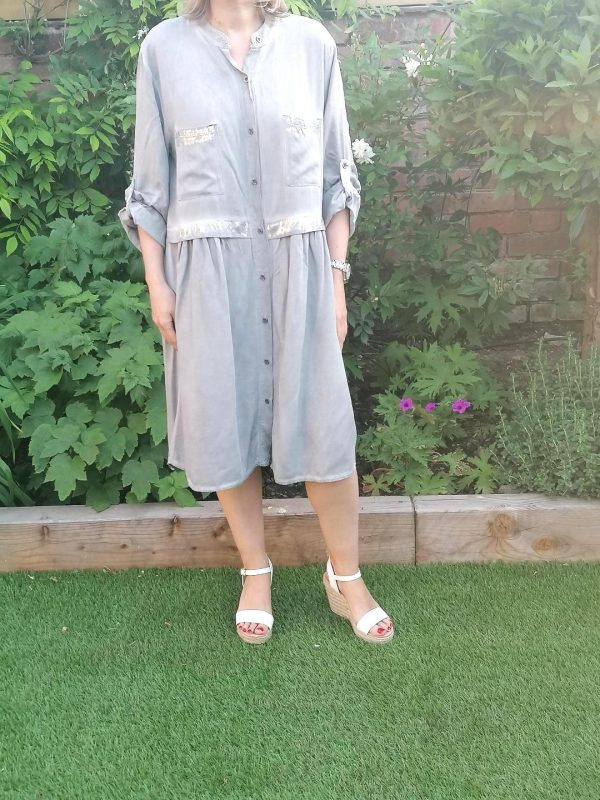 Grey & Silver Dress