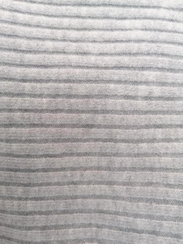 Grey Rib Batwing Style Sweater