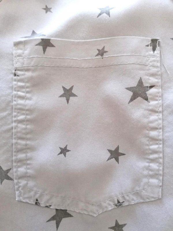 Grey Star Button Shirt
