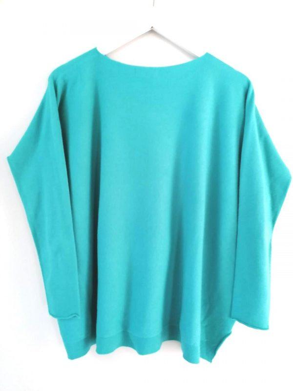 Teal Pocket Sweater