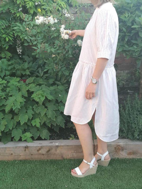 Kaffe White Stripe Dress
