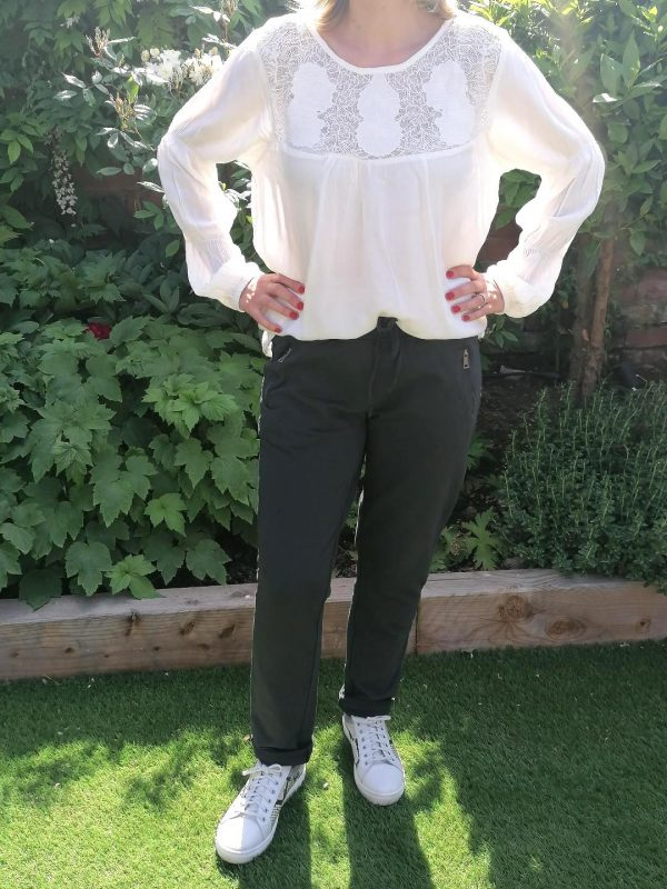 Cream White Lace Blouse