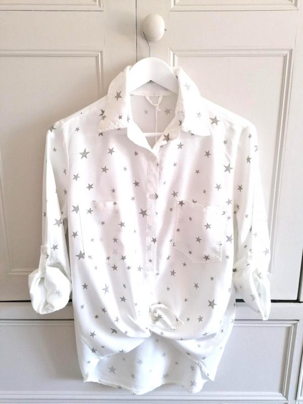 White Star Button Shirt