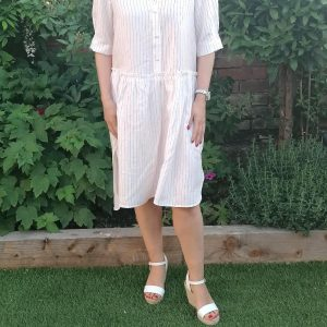 Kaffe White Stripe Dress