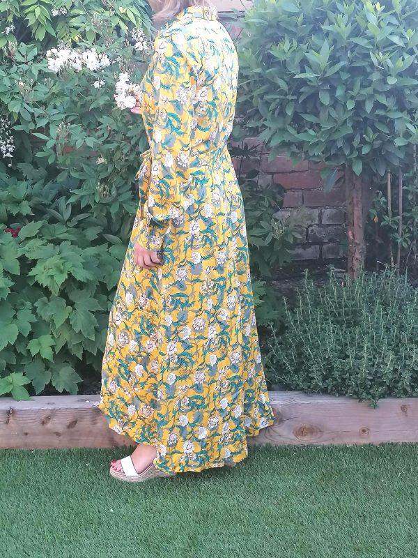 Kaffe Yellow Floral Shirt Dress