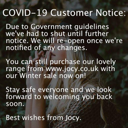 Covid-19 Customer Notice